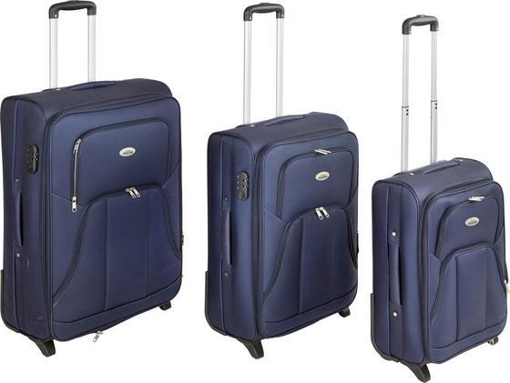Reisekofferset Jesolo 3-teilig - Blau, KONVENTIONELL, Textil/Metall - Luca Bessoni
