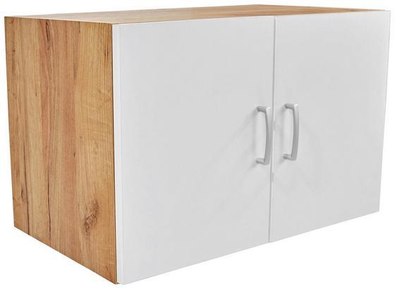Nástavec Na Skříň Tio - bílá/barvy dubu, Konvenční, kompozitní dřevo (80/43/37,5cm)