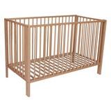 Gitterbett 120x80,5x60 cm - Naturfarben, MODERN, Holz (120/80,5/60cm)