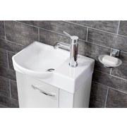 Waschbecken Guest I B: 45cm Keramik/Links - Weiß, Basics, Keramik (45/10,5/32cm) - MID.YOU