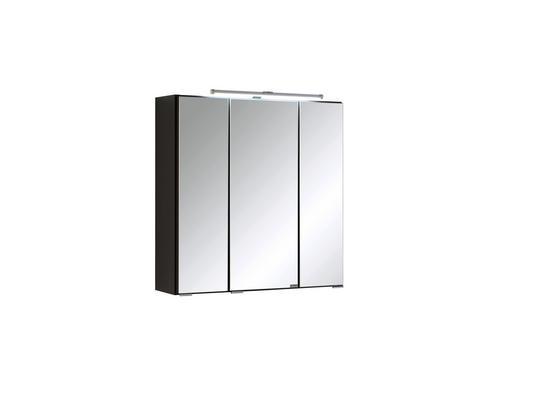 Spiegelschrank mit Türdämpfer + Led Cardiff B: 60cm, Graphit - Graphitfarben, KONVENTIONELL, Glas/Holzwerkstoff (60/64/20cm)