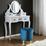 Taburet Julene - petrolejová, Moderný, kov/textil (39/40cm) - Modern Living