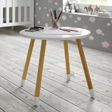 Detský Stôl Leni - biela/farby pínie, Moderný, drevený materiál/drevo (55,90/49,50/55,90cm) - Modern Living