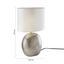 Stolová Lampa Ilias, Max. 1x28watt - biela/strieborná, Štýlový, textil/keramika (24/37cm) - Premium Living