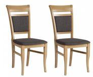 Sada Židlí Nepal - tmavě šedá/barvy buku, Konvenční, kov/kompozitní dřevo (46/96/46cm)