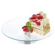 Tortenplatte Collini - Klar/Edelstahlfarben, KONVENTIONELL, Glas/Metall (30,5/31/4,8cm) - Collini