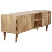TV-Lowboard Mango B: 140 cm Echtholz Mango - Weiß/Naturfarben, KONVENTIONELL, Holz/Holzwerkstoff (140/50/40cm)