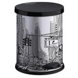 Treteimer City - Schwarz/Weiß, Basics, Kunststoff/Metall (26/32,5cm)