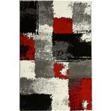 Webteppich Saphira 160x230 cm - Rot/Grau, KONVENTIONELL, Textil (160/230cm) - Ombra