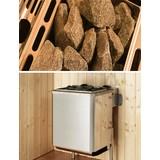 Saunaofenset 5,4 Kw, Kompakt 400v - Alufarben, MODERN, Metall (38/66,4/36,6cm)
