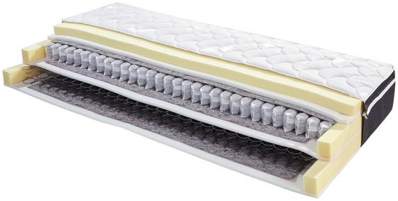 Boxspringmatratze Matrix Hybrid H2 80x200 - Weiß, Textil (80/200cm) - Primatex Deluxe