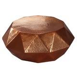 Couchtisch Rund aus Aluminium Diamant, Kupferfarben - Kupferfarben, LIFESTYLE, Metall (73/73/28,5cm) - Livetastic