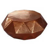 Couchtisch Rund aus Aluminium Diamant, Kupferfarben - Kupferfarben, LIFESTYLE, Metall (73/73/28,5cm) - MID.YOU