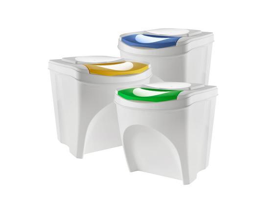 Odpadkový Kôš Sada Sorty - modrá/žltá, Moderný, plast - Mömax modern living