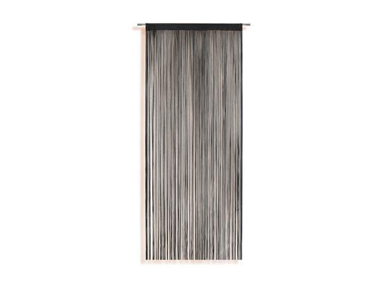 Zsinórfüggöny Marietta - Fekete, konvencionális, Textil (90/245cm) - Ombra