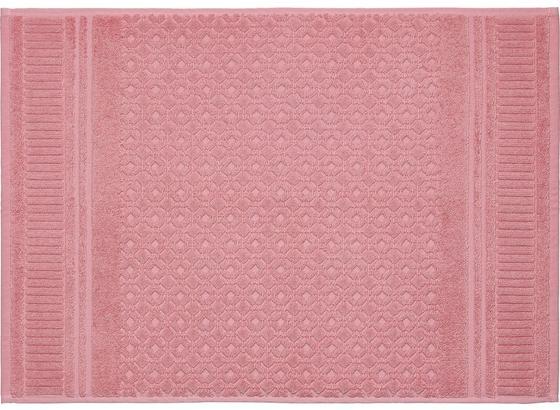 PŘEDLOŽKA KOUPELNOVÁ CARINA - růžová, Romantický / Rustikální, textil (50/70cm) - Mömax modern living