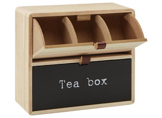 Box Na Čaj Mason - hnedá/čierna, Moderný, kompozitné drevo (23/9/21cm)