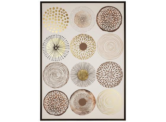 Obraz Denise - čierna/zlatá, drevo/kompozitné drevo (104/144/4,3cm) - Modern Living