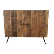 Komoda Vintage - přírodní barvy, Konvenční, dřevo (100/78/45cm)