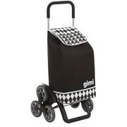 Einkaufstrolley Tris - Silberfarben/Schwarz, Textil/Metall (56/99/13cm)