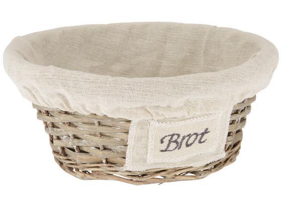 Košík Na Pečivo Bretagne - přírodní barvy, Romantický / Rustikální, textil/přírodní materiály (24/10cm)