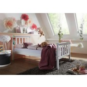 Kinder-/Juniorbett Kiefer Massiv/ Weiß 70x140 cm - Weiß/Braun, Basics, Holz (70/140cm) - Carryhome
