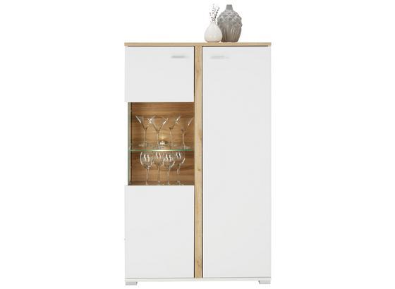 Komoda Highboard Alamo - farby dubu/biela, Moderný, kompozitné drevo (78/131/37cm) - Modern Living