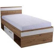 Bett Box 90x200 Artisan Eiche /Alpinweiß - Blau/Eichefarben, MODERN, Holzwerkstoff (90/200cm) - Ombra