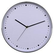 Wanduhr Naomi - Silberfarben, Basics, Kunststoff (30cm) - Ombra