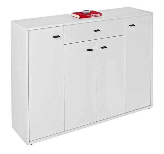 Komoda Boni - bílá, Moderní, kompozitní dřevo (116/84/30cm)