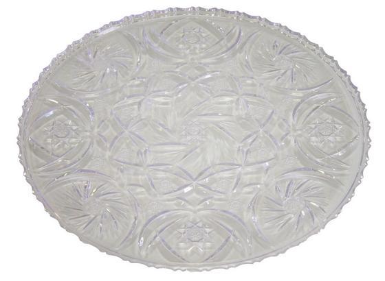 Servierplatte Eva - Transparent, KONVENTIONELL, Kunststoff (30cm)