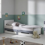 Posteľ pre deti aj mládež Brian - biela, Moderný, drevený materiál/drevo (96/80/203cm) - Mömax modern living