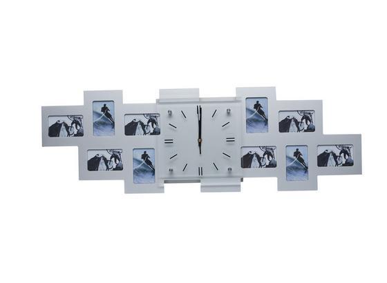 Wanduhr 10 Bilder 9x13cm - Silberfarben, Basics, Glas/Holzwerkstoff (80/26/5,2cm)