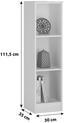 Regál 4-you Yur05 - bílá, Moderní, dřevo (30/111,5/35,2cm)