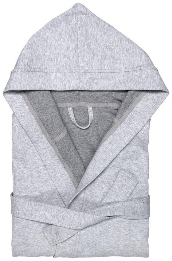 Župan Jerry - šedá, textil (XS/S) - Premium Living