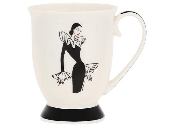 Kaffeebecher Kassandra - Schwarz, KONVENTIONELL, Keramik (8,8/11cm) - Luca Bessoni