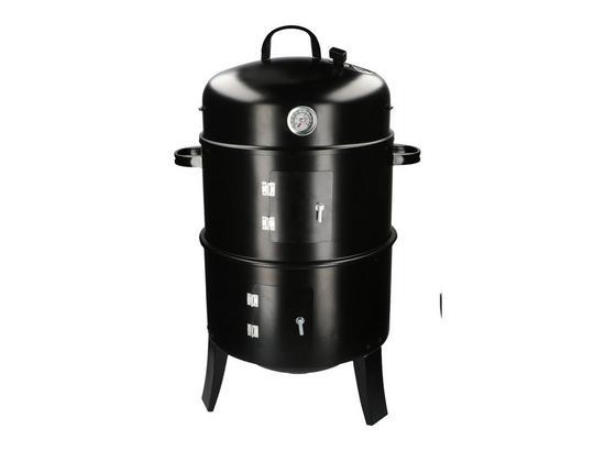 Smoker Bbw 3in1 - Schwarz, MODERN, Metall (40/40/80cm)