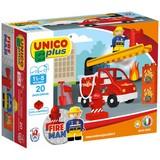 Bausteine Unico Plus Feuerwehrwagen - Gelb/Rot, Kunststoff - Unico Plus