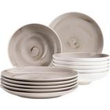 Tafelservice 12-Tlg Tafelservice Derby - Beige, Basics, Keramik (32/32/30cm) - Mäser