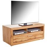Tv Diel Tizio - farby dubu, Moderný, kompozitné drevo (125/48,4/49,5cm)