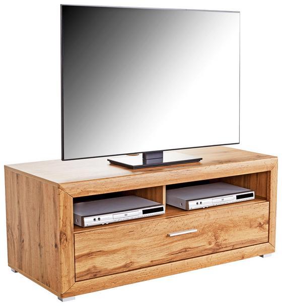Tv Díl Tizio - barvy dubu, Moderní, kompozitní dřevo (125/48,4/49,5cm)