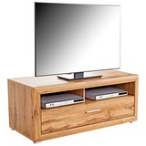 TV-Element Tizio - Eichefarben/Silberfarben, MODERN, Holzwerkstoff (125/48,4/49,5cm)