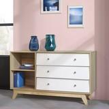 Komoda Enny - barvy borovice/bílá, Moderní, dřevo (120/70/35cm) - MODERN LIVING