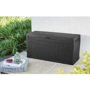 Kissenbox Wasserdicht Comfy 117x57x45 cm 270l Graphit - Graphitfarben, Basics, Kunststoff (116,7/57/44,7cm)