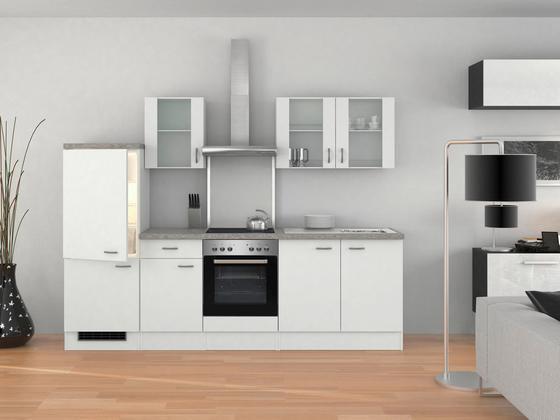 Küchenblock wito 270 cm weiß edelstahlfarben weiß modern holzwerkstoff 270