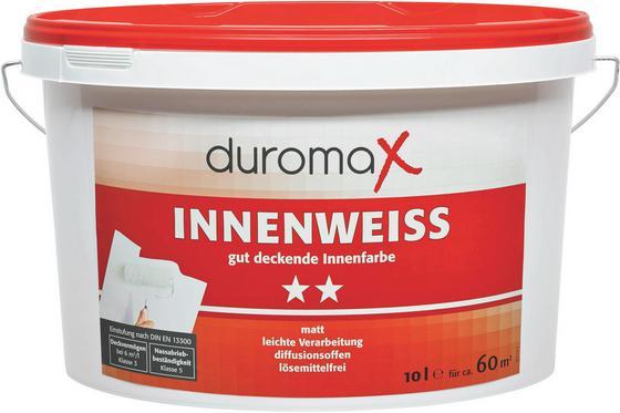 Wandfarbe Innen - Weiß, KONVENTIONELL (10l) - DUROMAX
