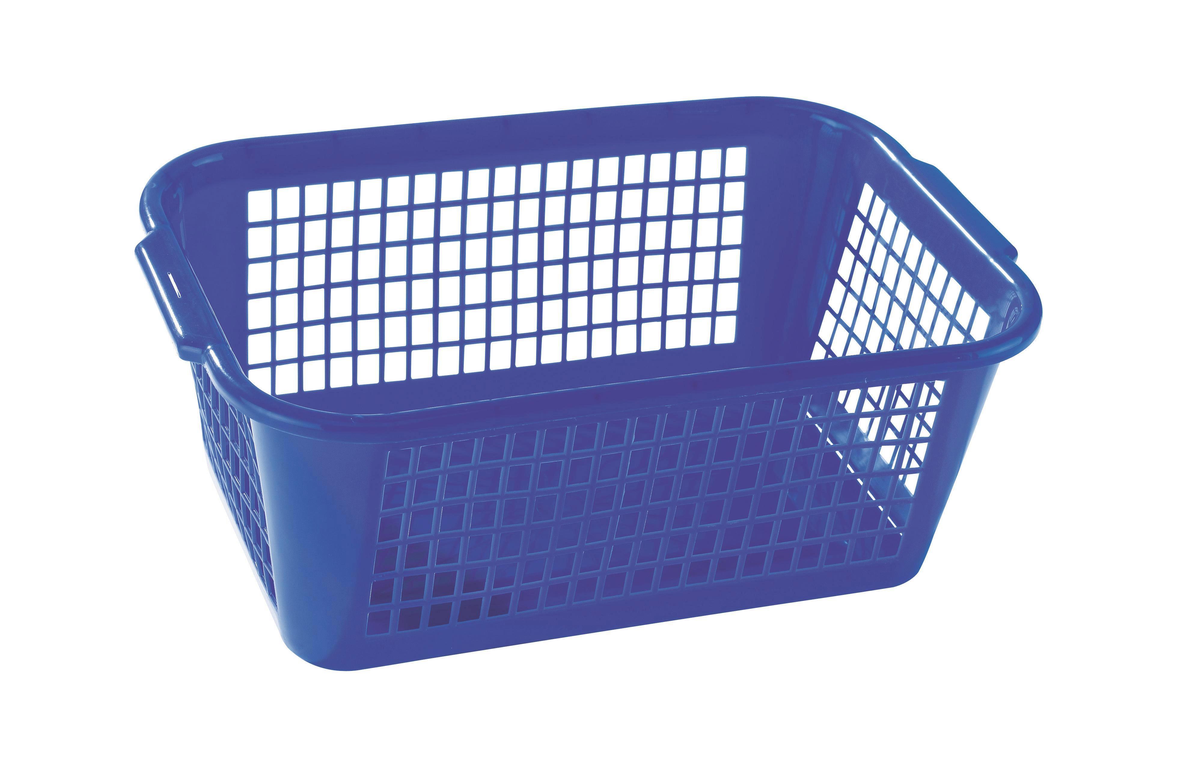 Aufbewahrungskörbchen Kunststoff - Blau/Rot, KONVENTIONELL, Kunststoff (35/14.5/24cm)