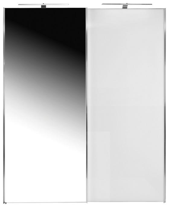 SCHWEBETÜRENSCHRANK SONATE 225x240cm - Weiß, MODERN, Holz/Holzwerkstoff (225/240/68cm) - Luca Bessoni