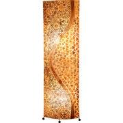 Stehlampe Muschel Braun Textil mit Ornamenten - Braun, MODERN, Naturmaterialien/Textil (45/20/149cm) - Globo