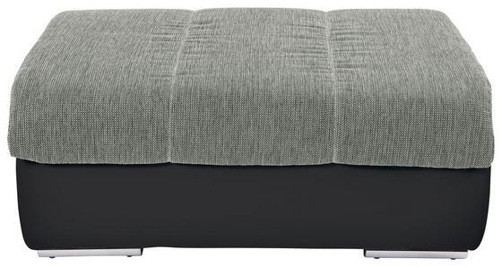 Taburet Multi - barvy stříbra/černá, Moderní, textil (100/43/80cm)